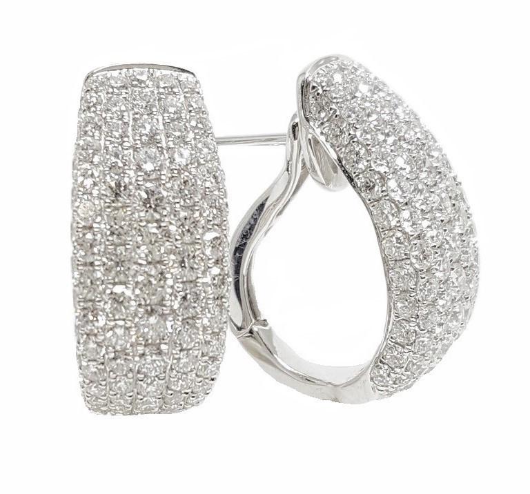 18K White Gold 2.73Ct Diamond Earrings