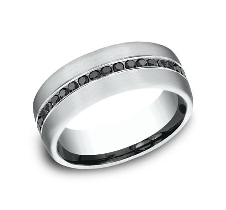 Benchmark 14K Black Diamond Wedding Band #CF717551