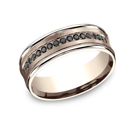Benchmark 14K Black Diamond Wedding Band #CF717592