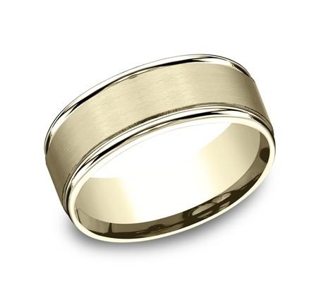 Benchmark 14K Wedding Band #RECF7802S
