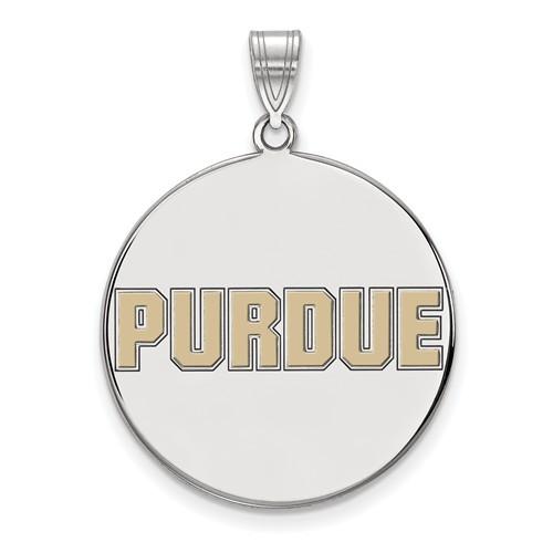 Purdue University - Sterling Silver Enamel Disc Pendant