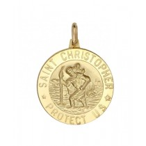 14K Yellow Gold St. Christopher Medal