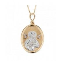 14K 2-Tone Our Lady of Perpetual Help Medal