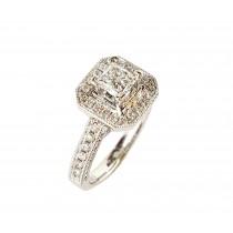 18K White Gold 1.67Ct TW Diamond Ring