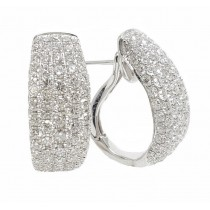 18K White Gold 2.73Ct Diamond Earrings