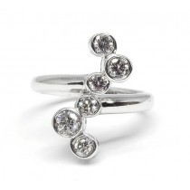 14K White Gold 0.68CtTW Diamond Ring