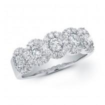 14K White Gold 1.20CtTW Diamond Ring