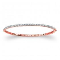 14K Rose Gold 1.00CtTW Diamond Bangle Bracelet