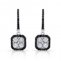 18K White Gold 1.50CtTW Black & White Diamond Earrings