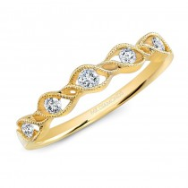 14K Yellow Gold 0.20Ct Stackable Diamond Ring