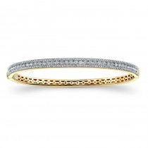 14K Yellow Gold 2.00CtTW Diamond Bangle Bracelet