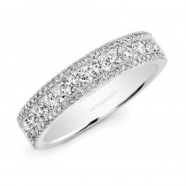 14K White Gold 1.12CtTW Diamond Ring