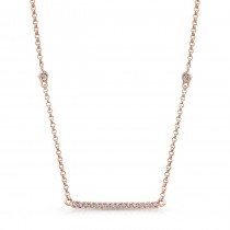 14K Rose Gold Trapeze Diamond Necklace