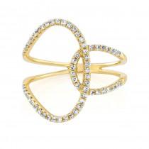 14K Yellow Gold 0.38CtTW Diamond Ring