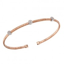 925 Rose Plated CZ Bracelet