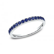 Benchmark 14K Blue Diamond Wedding Band