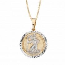 14K 2-Tone St. Christopher Medal