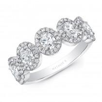 14K White Gold 1.20CtW Diamond Ring