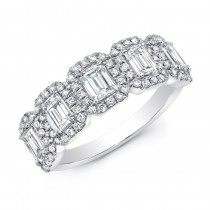 14K White Gold 1.28CtW Diamond Ring