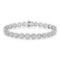 14K White Gold 2.25CtTW Diamond Bracelet