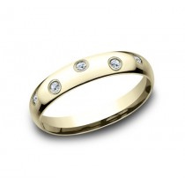 Benchmark 14K Diamond Wedding Band