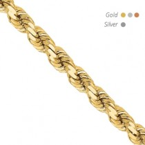 14K Diamond Cut Rope Chain