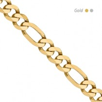 14K Yellow Gold Flat Figaro Chain