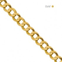 14K Yellow Gold Flat Miami Cuban Chain