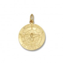 14K Yellow Gold Holy Spirit Enlighten Me
