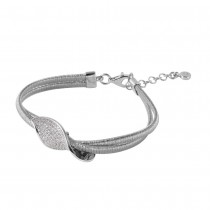 925 Italian Sterling Silver Bracelet with CZ Accents