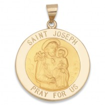 14K Yellow Gold Saint Joseph Medal