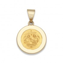 14K Yellow Holy Family Baptismal Medal