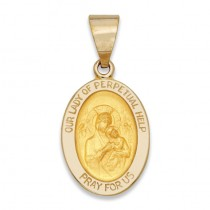 14K Yellow Gold Our Lady of Perpetual Help