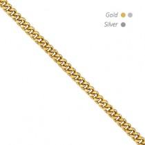 14K Gold Pendant Curb Chain