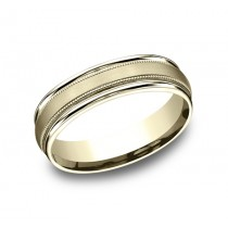 Benchmark 14K Wedding Band #RECF7601S