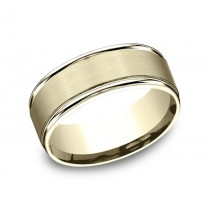 Benchmark 14K Wedding Band #RECF7802S