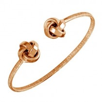 925 Rose Plated Love Knot Bracelet