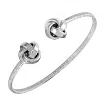 925 Silver Plated Love Knot Bracelet