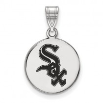 Chicago White Sox -  Sterling Silver Pendant with Enamel