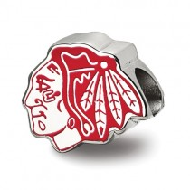 Chicago Blackhawks - Sterling Silver Enamel Bead Charm