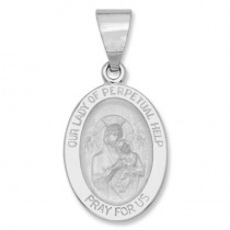 14K White Gold Our Lady of Perpetual Help