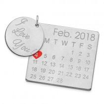 Disc & Heart Calendar Charm