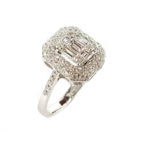 18KW Gold 1.20CtTW Diamond Ring