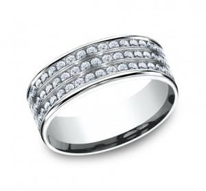 Benchmark 14K Diamond Wedding Band #CF528556