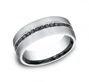 Benchmark 14K Black Diamond Wedding Band #CF717551