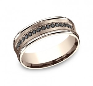 Benchmark 14K Black Diamond Wedding Band #CF717592