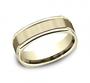 Benchmark 14K Wedding Band #EURECF7702