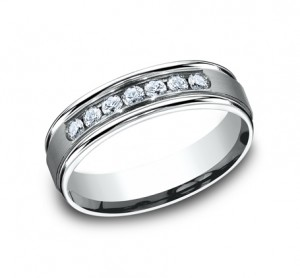 Benchmark 14K Diamond Wedding Band #RECF516516