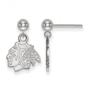 Chicago Blackhawks - Sterling Silver Earrings